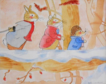 Fox tales reproduction 'wintertree'
