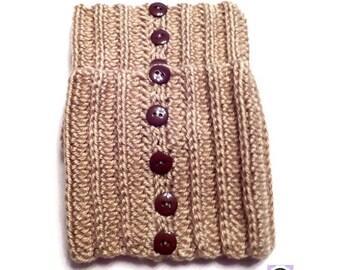 Crochet Ribbed Boot Cuffs, Crochet Boot Cuffs, Beige