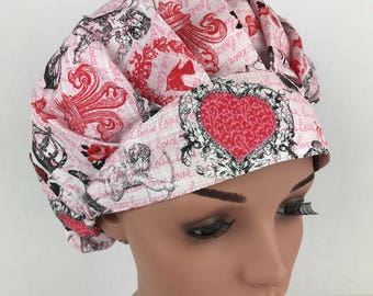 Valentines Bouffant Scrub Hats Scrub Caps Surgical Scrub Hats Surgical Tech Scrub Hats for Women Surgical Cap