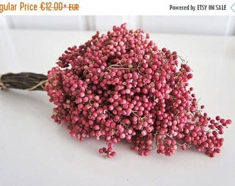 BIG SALE Big bunch of red Pepperberry bouquet, Preserved Pepperberries, a bunch of dried real flower, fragrances flower, home decor