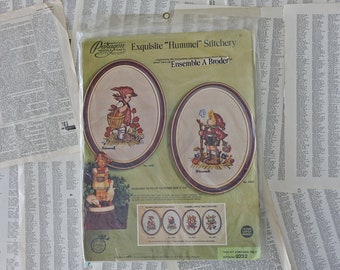 Peasant girl Paragon Vintage needlecraft Exquisite Hummel Crewel Stitchery #232