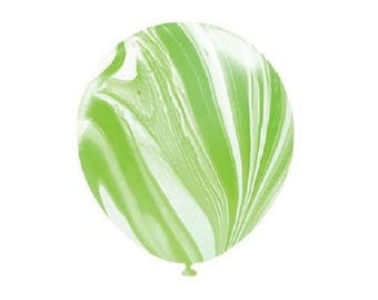 Green Marble Latex Balloons, Green & White Marble Balloons, Party Balloons, Wedding Balloons, Party Decorations, Marble Decor, Baby Shower
