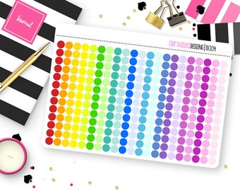 Custom Color Tiny Dots Stickers for Erin Condren Life Planner, Plum Paper or Mambi Happy Planners