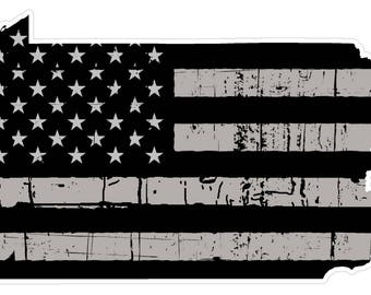 Pennsylvania State (N39) Distressed Flag Vinyl Decal Sticker Car/Truck Laptop/Netbook Window