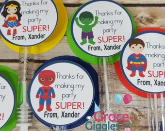 6 Superhero Bubble Favors