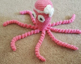 Crocheted Octopus with Bow