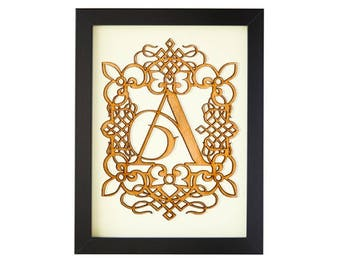 A - FRAMED MONOGRAM