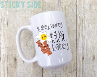 Bacon and Egg Mug, Bacon Mug, Eggs Mug, Bacon and Eggs, Funny Morning Mug, Mug Gift, Coffee Mug Gift, Bacon Coffee Mug, Egg Coffee Mug