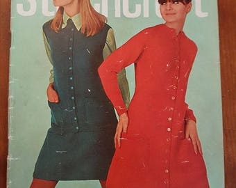 Stitchcraft Sepember 1967, Knitting Patterns, Vintage Patterns, Original Vintage Pattern Book, Vintage Patterns, Knitting, Crochet, Paper