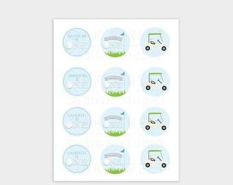 HALF OFF Golf Birthday Cupcake Toppers, Cupcake Toppers, Golf Birthday, Digital File