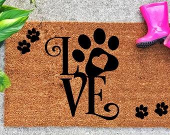 front door mat custom welcome mat pet lover gift coir