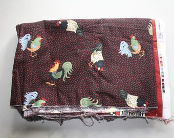 Debbie Mumm Inc for SSI - Roosters fabric off cut