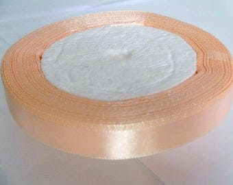 1 reel 23 m 12mm salmon colored satin ribbon