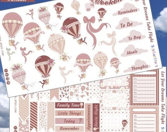 SALE | 75% OFF | Let Your Dreams Take Flight Planner Layout Stickers