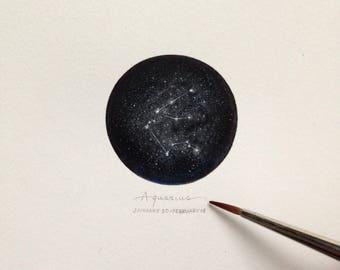 Miniature of the Aquarius Constellation - Zodiac Constellations Series