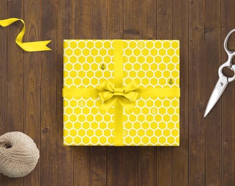Wrapping Paper 'Honeycomb' // 3pcs. x 50x70cm