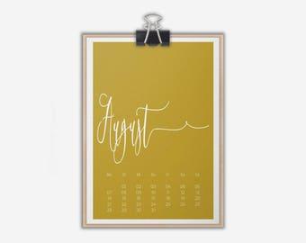 Calendar // Table