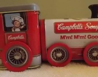 Campbell's Soup 1997 tin train Tinbox Co.