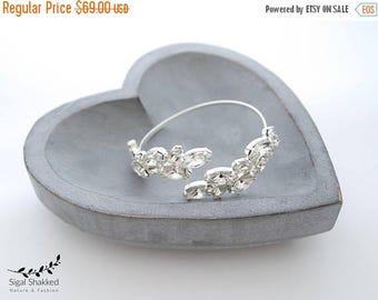 Wedding Crystal Bracelet, Bridal Wedding Bracelet, Silver Crystal Bracelet, Swarovski Silver Bracelet,  Bridesmaids Bracelet, Bridal Cuff