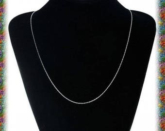 1 stainless steel necklace of very fine stitches for pendants 50.5 cm