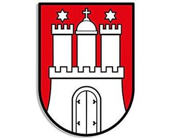 Hamburg Coat Of Arms Sticker (germany deutschland)