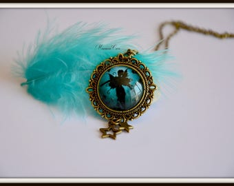 Black fairy necklace