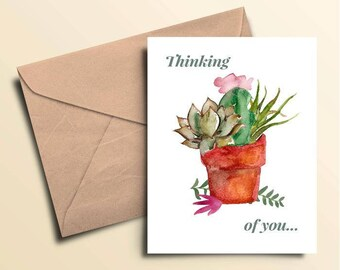 Thinking of You Cacti Note Cards