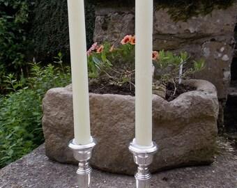 Pair Of Silver Candlesticks Birmingham 1973
