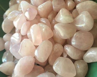 1/4 lb  Rose Quartz Tumbled Stones