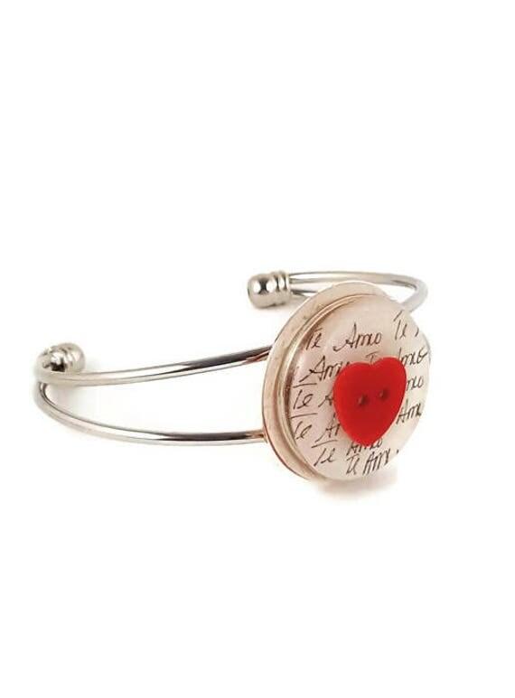"""""""Te Amo""""  cuff bracelet"""