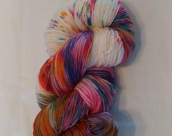 Lunaria, yarn, crochet, knit, handmade, handpainted, sock, sock weight, superwash, merino, yarn, hand dyed sock yarn