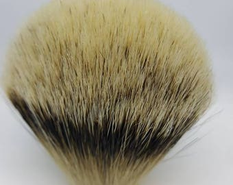 Handmade Silvertip Shaving Knot