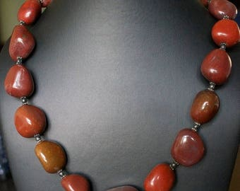 ON SALE Alluring Chalcedony Silver Necklace