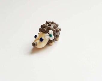 Hedgehog Beads - Lampwork Glass - Glass Hedgehog - Lampwork Beads - UK Artisan Handmade - Crafter - Hedgehog - Woodland - Hedgehog Bead