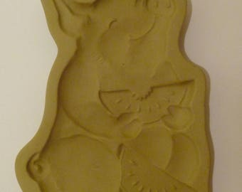 Brown Bag Cookie Art Mold PIG with WATERMELON 1992