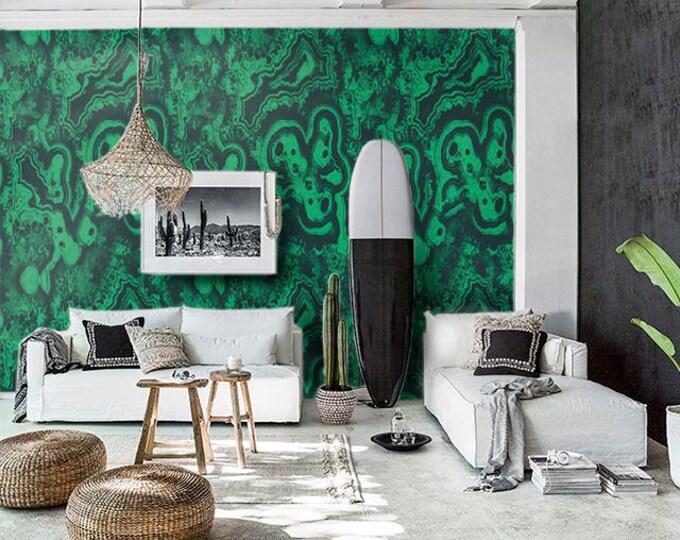 Big Green Malachite Wallpaper