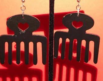Black Duafe Earrings