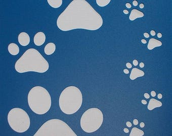 Paw Prints Stencil