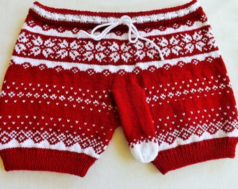 Mens underwear Knitted shorts Gift for him Knitted mens underwear Boxers