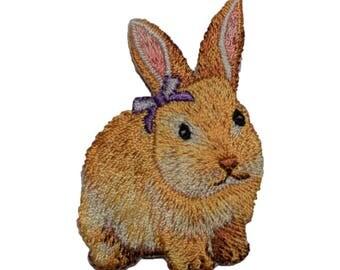 Bunny Rabbit Applique Patch (Iron on)