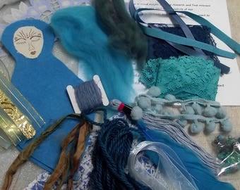 Spirit doll kit,goddess doll kit,art doll kit,create a goddess,make a spirit doll,spirit doll,create a doll,pagan gift,pagan craft,wicca kit