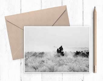 Cattle Drive fine art card (set of 4)