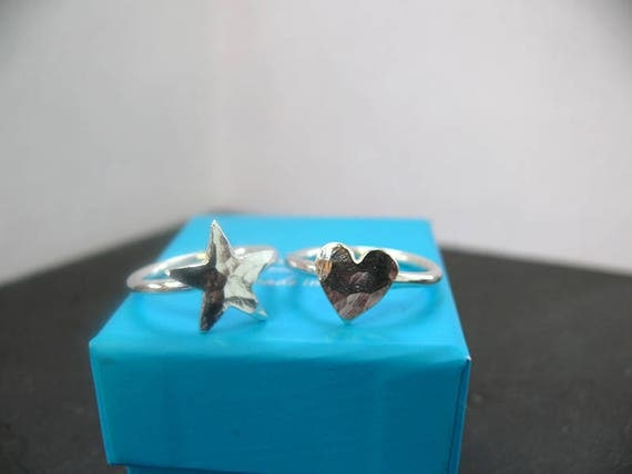 Star or Heart Ring - Sterling Silver Ring