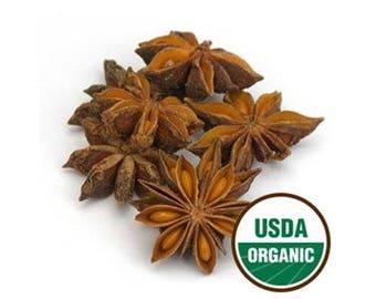 Star Anise, Whole, Organic 1 Pound