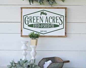 Farmhouse sign,farmhouse decor,tractor decor,home and livng,home decor,wood signs,rustic decor,country decor,fixer upper decor,green decor