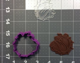 Bulldog 100 Cookie Cutter and Stamp (Imprinted)