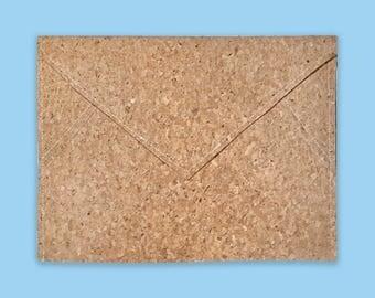 Cork Fabric Bag, Envelope Clutch, Cork Gifts, Cork Clutch, Cork Handbag, Cork Organizer, Cork Purse, Envelope Pouch, Flat Pouch, Coin Purse