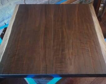 Reclaimed Live Edge Black Walnut Slab Wood Finished Table Top // Bench,  Desk,