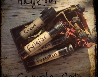 Sample Pack of Perfume or Cologne Oil Hand Blended by HagRoot - You Pick The Scent
