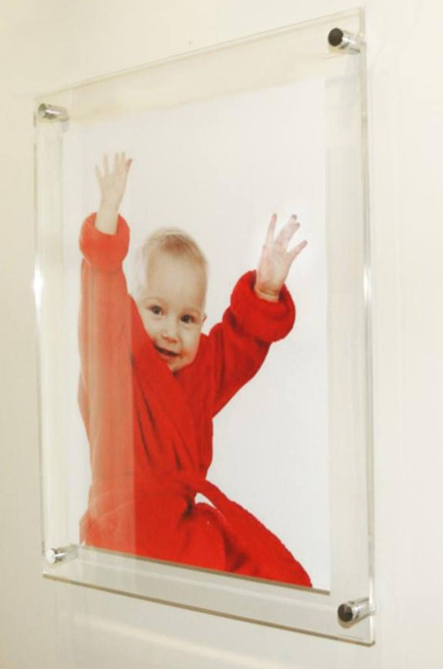Clear high gloss cheshire acrylic 10mm 12 x 16 30 x 40 cm a3 clear high gloss cheshire acrylic 10mm 12 x 16 30 x 40 cm a3 16 x 12 floating picture photo frame pixi made in uk wall mount jeuxipadfo Images